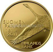 Finland 100 Euro 2011 V Proof KM# 164 Euro Coinage coin reverse