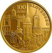 Slovakia 100 Euro 300th Anniversary of the Coronation of Charles III 2012 Proof KM# 125 100 EURO SLOVENSKO 2012 coin obverse