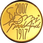 Finland 100 Euro 90th Anniversary of Independence 2007 P KM# 137 2007 SUOMI FINLAND P 1917 coin obverse