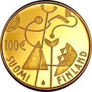 Finland 100 Euro 90th Anniversary of Independence 2007 P KM# 137 100€ SUOMI FINLAND coin reverse