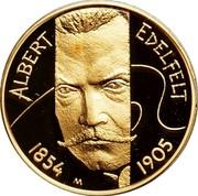 Finland 100 Euro Albert Edelfelt 2004 M-M Proof KM# 117 ALBERT EDELFELT 1854 M 1905 coin reverse