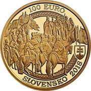 Slovakia 100 Euro Bratislava Coronations - 400th ann of the coronation of Ferdinand II 2018 100 EURO SLOVENSKO 2018 coin obverse