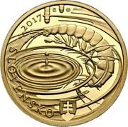 Slovakia 100 Euro Caves of Slovak Karst 2017 2017 SLOVENSKO R coin obverse