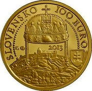 Slovakia 100 Euro Coronations in Bratislava - Maximilian II 2013 Proof KM# 132 SLOVENSKO 100 EURO 2013 coin obverse
