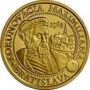 Slovakia 100 Euro Coronations in Bratislava - Maximilian II 2013 Proof KM# 132 KORUNOVÁCIA MAXIMILIANA 1563 BRATISLAVA coin reverse