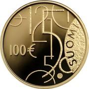 Finland 100 Euro Finnish Lion 2010 P Proof KM# 150 100 € SUOMI coin obverse