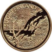 Finland 100 Euro Lappland Midnight Sun 2002 M J-M Proof KM# 109 SUOMI FINLAND 2002 coin obverse