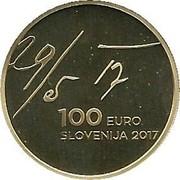 Slovenia 100 Euro May Declaration 2017 Proof 29/5 17 3 EURO SLOVENIJA 2017 coin obverse