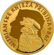 Slovakia 100 Euro Nitrian Principality Pribina 2011 Proof KM# 119 NITRIANSKE KNIEŽA PRIBINA 861 coin obverse
