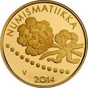 Finland 100 Euro Numismatics 2014 Proof, numbered KM# 223 NUMISMATIIKKA V 2014 coin reverse