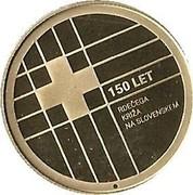 Slovenia 100 Euro Red Cross 2016 Proof 150 LET RDEČEGA KRIŽA NA SLOVENSKEM coin reverse