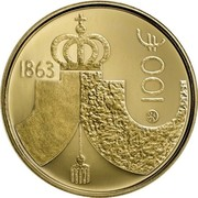 Finland 100 Euro The Diet of 1863 2013 Proof KM# 203 1863 100 € coin obverse