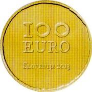 Slovenia 100 Euro Tolmin Peasant Revolt 2013 Proof KM# 114 100 EURO SLOVENIJA 2013 coin obverse
