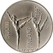 Finland 100 Markkaa 100th Birthday - Paavo Nurmi 1997 M-S KM# 84 SUOMI FINLAND 1997 S coin obverse