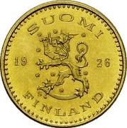 Finland 100 Markkaa 1926 S KM# 28 Decimal Coinage SUOMI 19 26 S FINLAND coin obverse