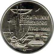 Finland 100 Markkaa 250th Anniversary of Suomenlinna Fortress 1998 M-O KM# 88 SUOMENLINNA SVEABORG 1748-1998 O coin obverse