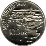 Finland 100 Markkaa 250th Anniversary of Suomenlinna Fortress 1998 M-O KM# 88 SUOMI FINLAND 1998 100 MK M coin reverse