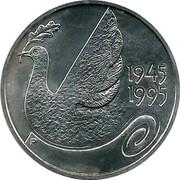 Finland 100 Markkaa 50th anniversary - United Nations 1995 P-M KM# 81 1945 1995 coin obverse
