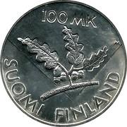 Finland 100 Markkaa 50th anniversary - United Nations 1995 P-M KM# 81 100 MK SUOMI FINLAND coin reverse
