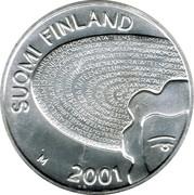 Finland 100 Markkaa Aino Ackte 2001 M KM# 97 SUOMI FINLAND M 2001 coin obverse