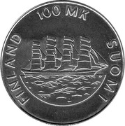 Finland 100 Markkaa Aland 1991 P-M KM# 70 FINLAND 100 MK SUOMI coin obverse