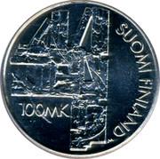 Finland 100 Markkaa Aleksis Kivi 2000 FI T-M KM# 94 ALEKSIS KIVI 2000 T coin obverse