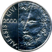 Finland 100 Markkaa Aleksis Kivi 2000 FI T-M KM# 94 SUOMI FINLAND 100 MK M coin reverse