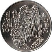 Finland 100 Markkaa Alvar Aalto 1998 M-G KM# 87 ALVAR AALTO 1898 1976 G coin obverse