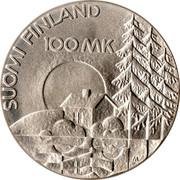 Finland 100 Markkaa Disabled War Veterans Association 1990 P-M KM# 67 SUOMI FINLAND 100 MK coin reverse