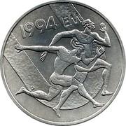 Finland 100 Markkaa European Championships in Athletics 1994 P-M KM# 78 1994 EM P coin reverse