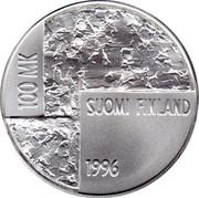 Finland 100 Markkaa Helene Schjerfbeck 1996 T-M KM# 83 HELENE SCHJERFBECK 1862-1946 coin reverse