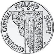 Finland 100 Markkaa Helsinki Cultural Capital 2000 P-M KM# 93 CULTURAL CAPITAL FINLAND SUOMI coin obverse