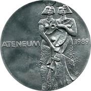 Finland 100 Markkaa Pictorial Arts of Finland 1989 P-M KM# 75 ATENEUM 1989 P coin obverse