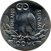 Finland 100 Markkaa University of Helsinki 1990 H-M KM# 68 FINLAND SUOMI 100 MK coin obverse