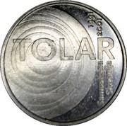 Slovenia 100 Tolarjev Tolar Anniversary 2001 KM# 42 TOLAR SAMOSTOJNA SLOVENIJA 1991 2001 coin reverse
