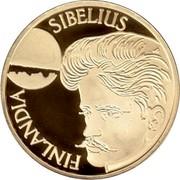 Finland 1000 Markkaa Jean Sibelius 1999 P-V-M Proof KM# 90 SIBELIUS P FINLANDIA coin obverse