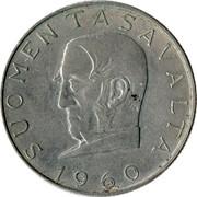 Finland 1000 Markkaa Snellman 1960 S-J KM# 43 SUOMEN TASAVALTA 1960 coin obverse