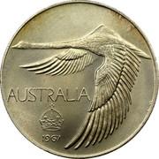 Australia 100c (1 Dollar Pattern) AUSTRALIA 1967 coin obverse