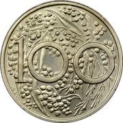 Australia 100c (1 Dollar Pattern) 100 coin reverse