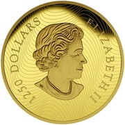 Canada 1250 Dollars Growling Cougar 2015 Proof 1250 DOLLARS ELIZABETH II coin obverse