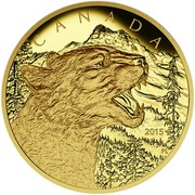 Canada 1250 Dollars Growling Cougar 2015 Proof CANADA 2015 coin reverse