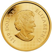 Canada 1250 Dollars Howling Wolf 2014 Proof 1250 DOLLARS ELIZABETH II coin obverse