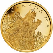 Canada 1250 Dollars Howling Wolf 2014 Proof CANADA 2014 coin reverse