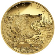 Canada 1250 Dollars Roaring Grizzly Bear 2016 Proof CANADA coin reverse