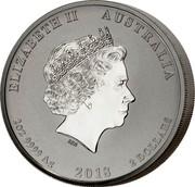 Australia 2 Dollars End of World War I - Dove (Piedfort) 2018 ELIZABETH II AUSTRALIA 2OZ 9999 AG 2018 2 DOLLARS coin obverse