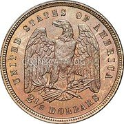 USA 2½ Dollars (Quarter Pattern Eagle) UNITED STATES OF AMERICA 2½ DOLLARS coin reverse