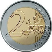 Slovenia 2 Euro 10 Years of Euro Banknotes and Coins 2012 Proof KM# 107 2 EURO LL coin reverse