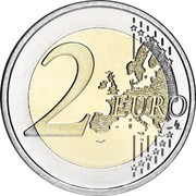 Finland 2 Euro 10 Years of Euro Cash 2012 Proof KM# 178 2 EURO LL coin reverse