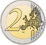 Slovenia 2 Euro 10th Anniversary of the Euro in Slovenia 2017  2 EURO LL coin reverse