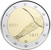Finland 2 Euro 200 Years of Finland National Bank 2011 Proof KM# 163 2011 1811 FI coin obverse
